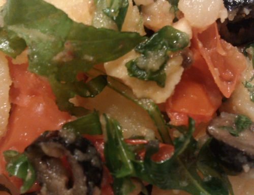 Insalata di Patate con Pomodorini e Rucola